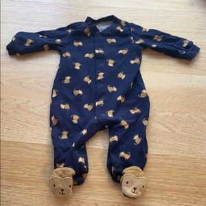 Carter's Child Of Mine Footed Monkey One Piece